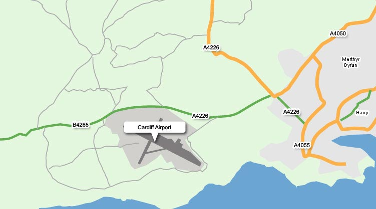 Cardiff Airport Map Directions to Cardiff Airport   Cardiff Airport Guide