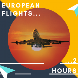 Check in at least 2 hours prior to leaving on a European flight from Cardiff Airport