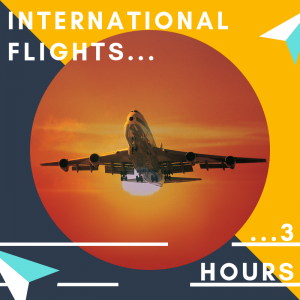Check in at least 3 hours prior to leaving on an international flight from Cardiff Airport