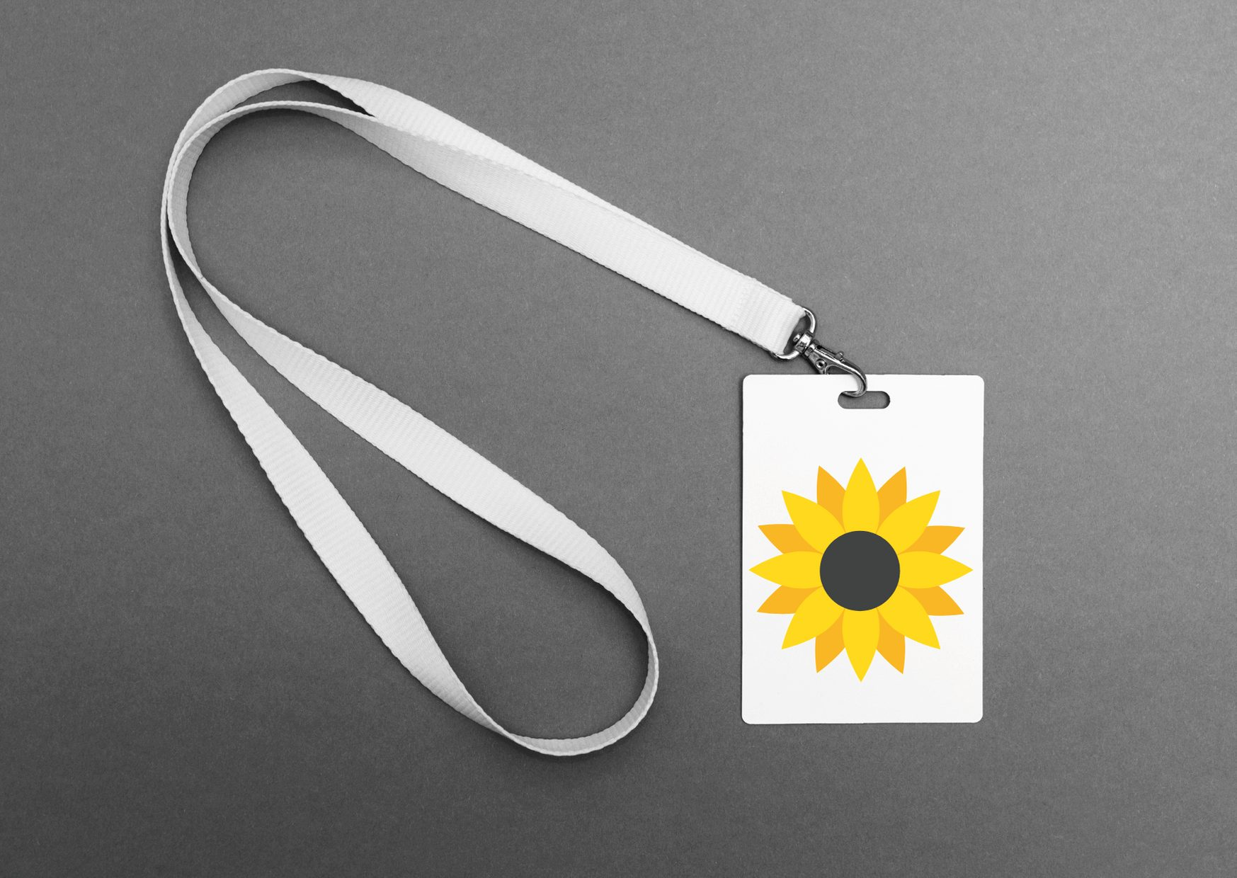 Cardiff Airport Special Assistance sunflower lanyard